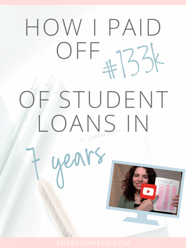 [VIDEO] How I Paid Off $133k of Nursing Student Loans in 7 Years