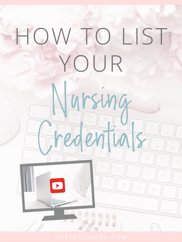 [VIDEO] Alphabet Soup: How to List Your Nursing Credentials