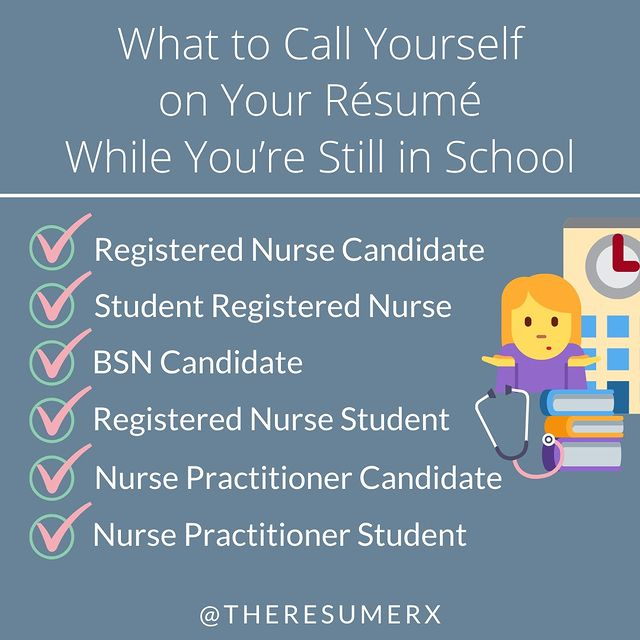 Ideas for what to refer to yourself as when you're still in nursing school