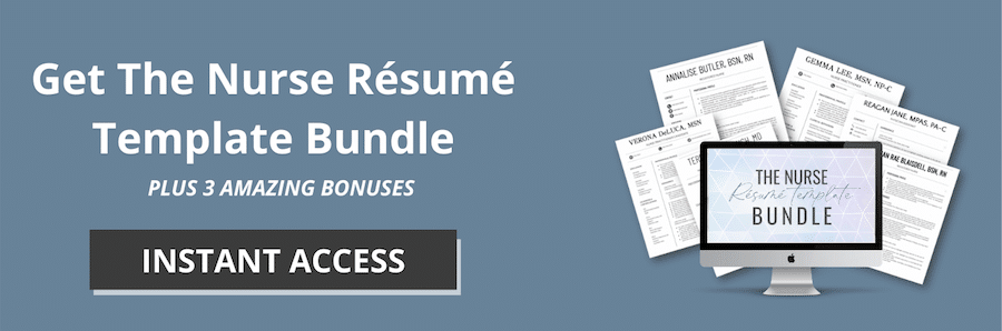 Shop the Nurse Resume Template Bundle