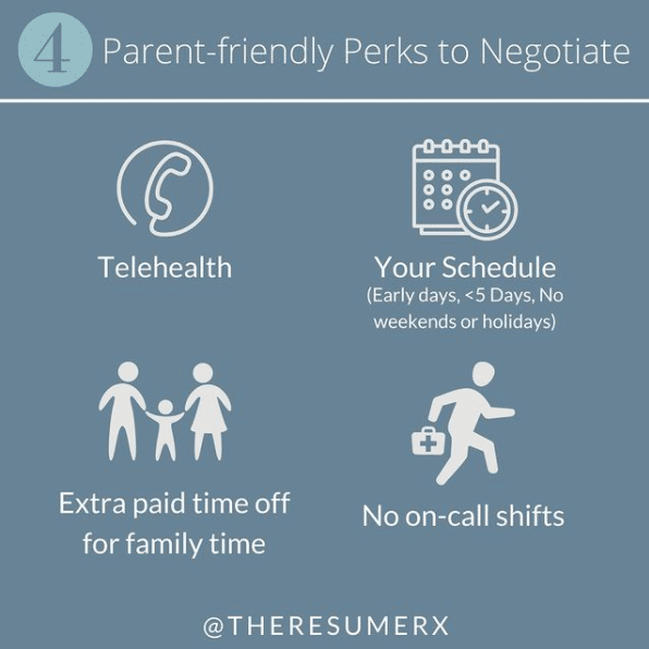 List of 4 parent friendly perks to negotiate
