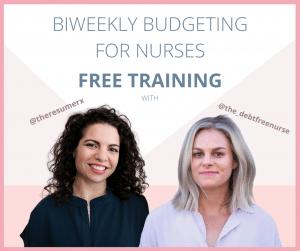 Biweekly budgeting basics webinar for nurses