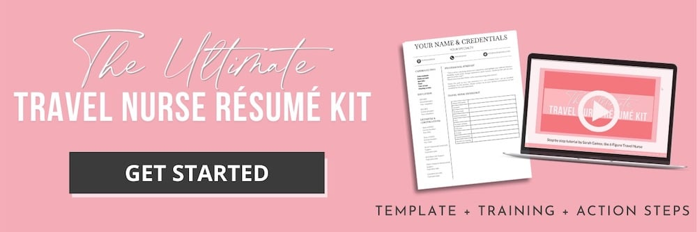 Purchase our Travel Resume Kit