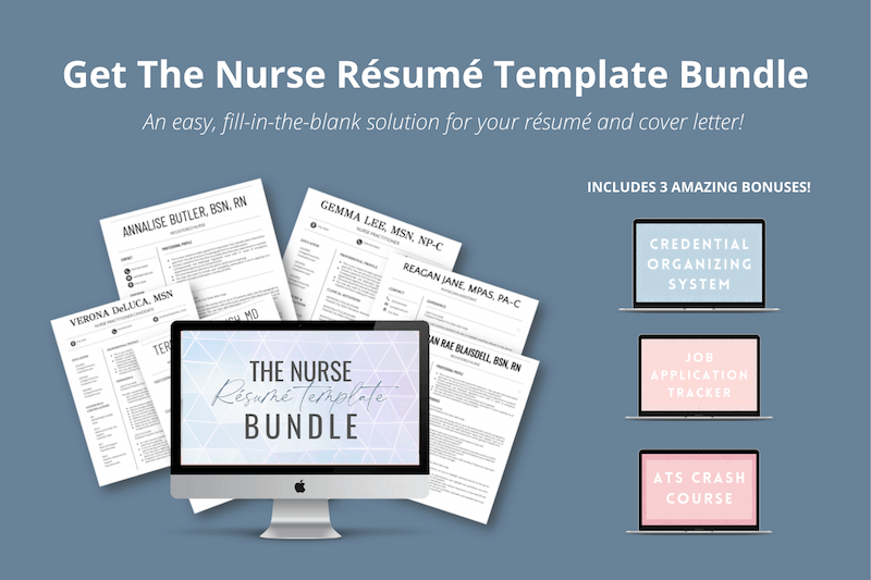 A well designed resume can help you land your next nursing job. Buy The Nurse Résumé Template Bundle for $27